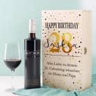 Geburtstagsset mit BREE Wein, Weinglas und persönlicher Verpackung