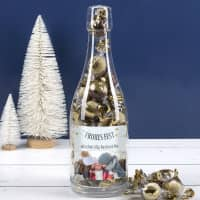 Pralinenflasche - Frohes Fest - mit Fotoaufdruck