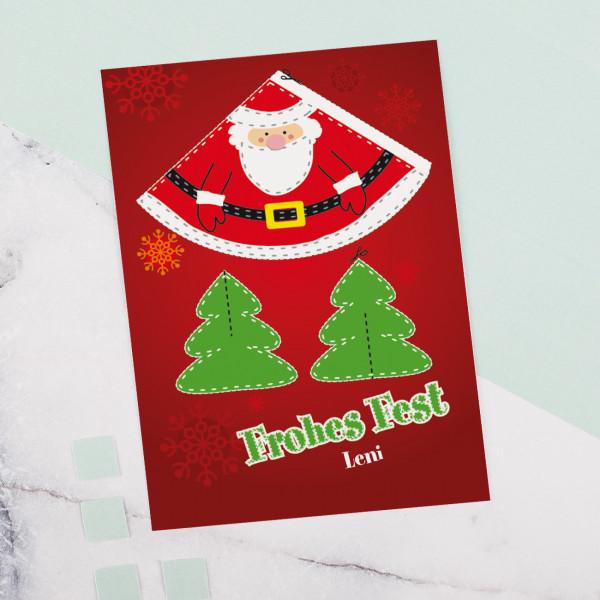 Weihnachtskarte mit Wunschnamen