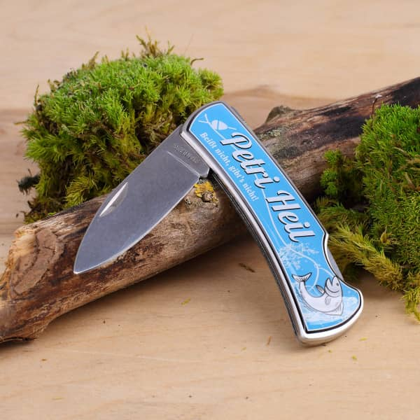 Ausgefallenspezielles - Taschenmesser Petri Heil - Onlineshop Geschenke online.de