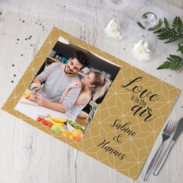 5 Tischsets mit Foto Love is in the air