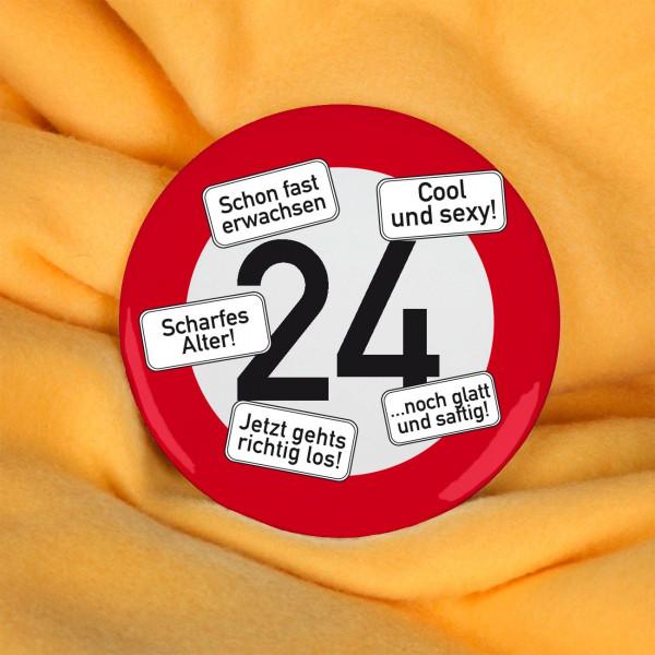XXL Button Verkehrszeichen 24