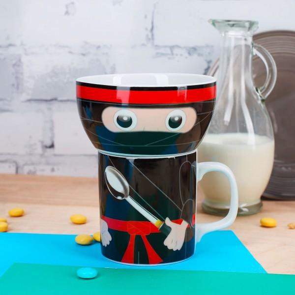 Shadow Ninja Porzellan Tasse Schüssel