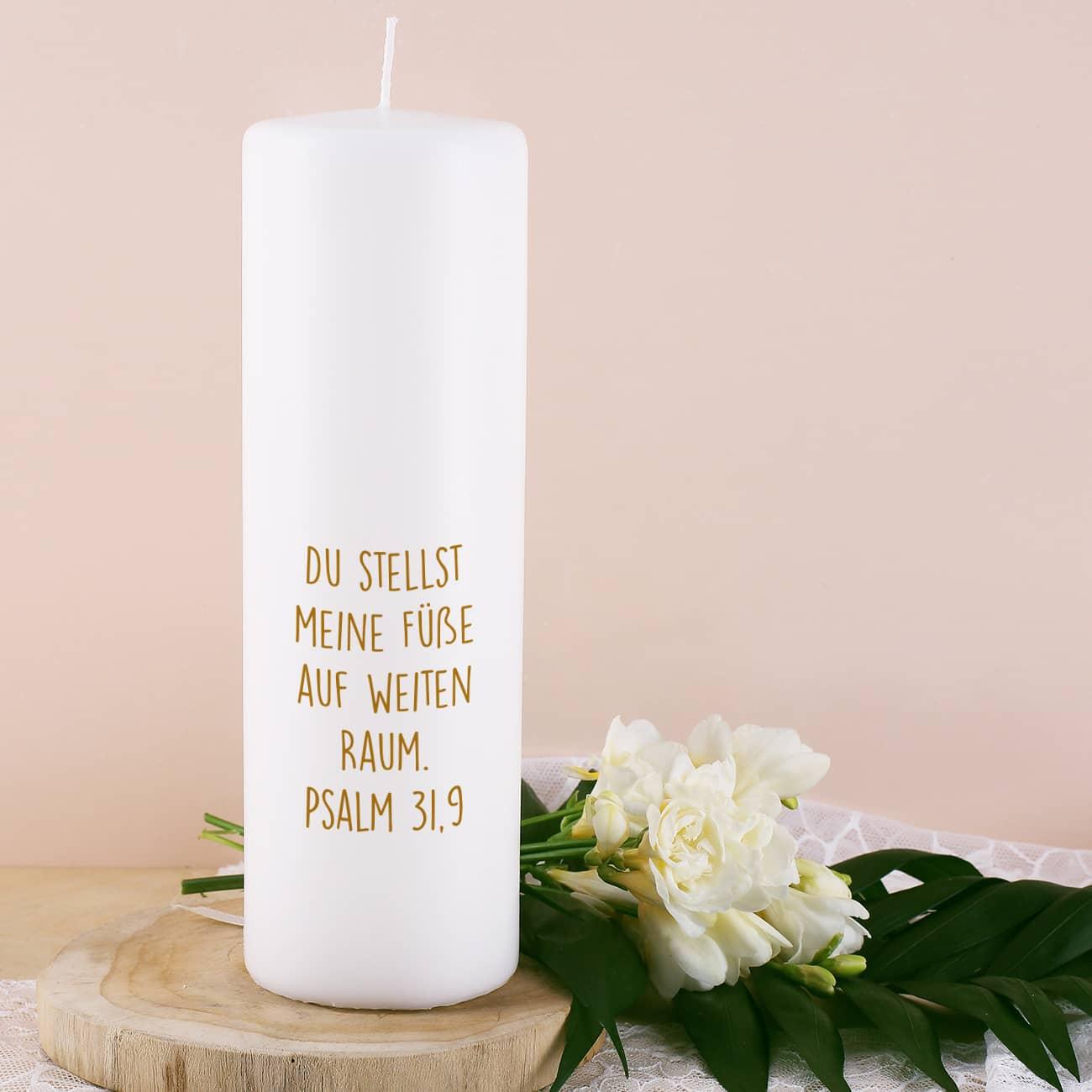 Kerze Zur Hochzeit Mit Punkten Namen Datum Und Wunschtext