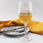 Bedrucktes Weinglas It's wine o'clock mit Name
