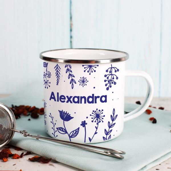 Individuellküchenzubehör - Emaillebecher mit Ihrem Namen - Onlineshop Geschenke online.de