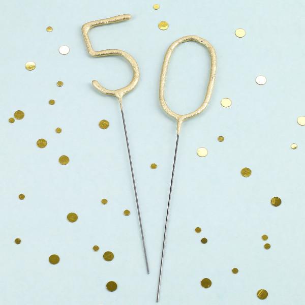 Wunderkerzen in gold - 50