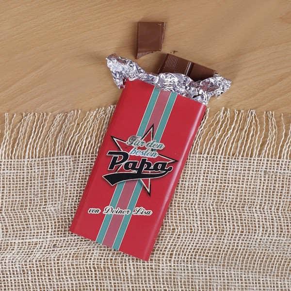 100g leckere Schokolade für den besten Papa