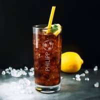 Trinkglas für Fußballer mit Namensgravur