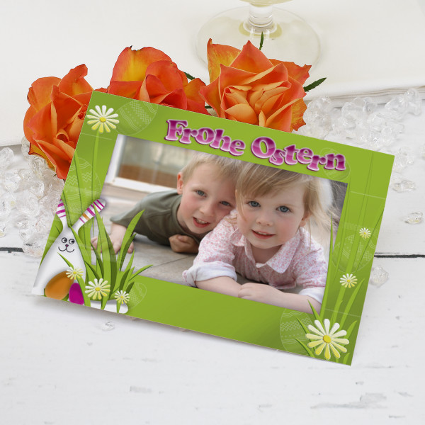 Ostergrüße mit Ihrem Foto (Postkarte)