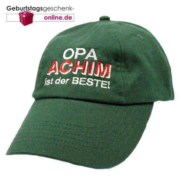 Opa ist der Beste Basecap Mütze mit Wunschnamen bestickt