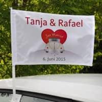 Hochzeitsfahne für Autos - Just Married -