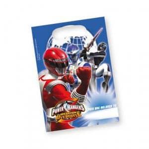 6 Geschenktaschen *Power Rangers Operation Overdrive*