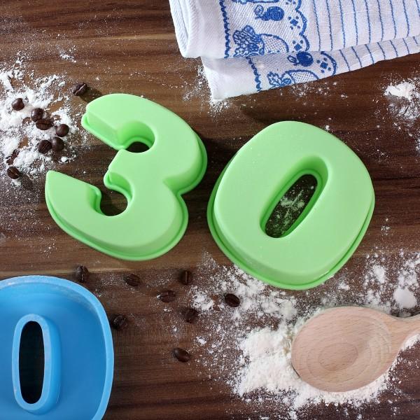 Backform zum 30. Geburtstag, grün