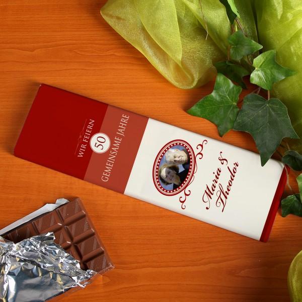 XL Schokolade zur Hochzeit mit Foto