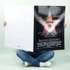 XXL Geburtstagskarte Walk of Fame mit Glückwünschen für den Star des Abends