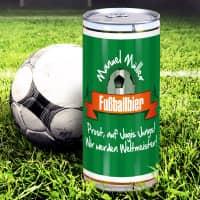 Fußballbier - mit Wunschname und persönlichem Gruß