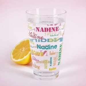 Bedrucktes Trinkglas