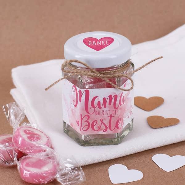 - Danke Mama Bonbon Glas für die beste Mama - Onlineshop Geschenke online.de