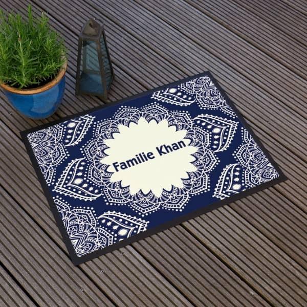 Fußmatte mit Mandala und Ihrem Wunschtext