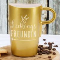 Lieblings... goldene Tasse mit Ihrem Wunschtext