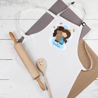 Kinderschürze für Mädchen mit Prinzessin-Motiv und Namen
