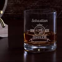 Angler aus Leidenschaft - graviertes Whiskyglas mit Name