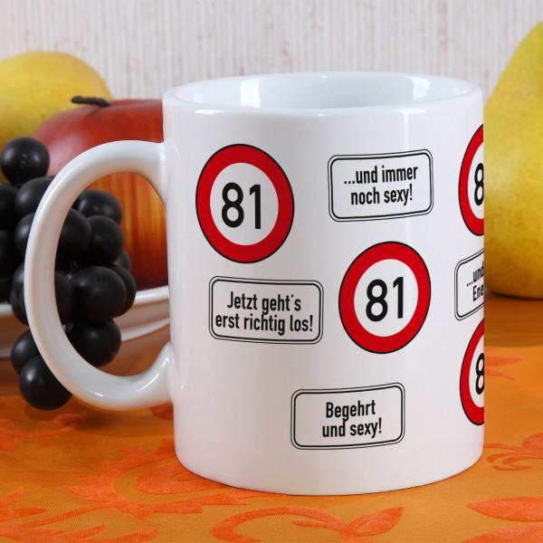 Kaffeetasse zum 81. Geburtstag!
