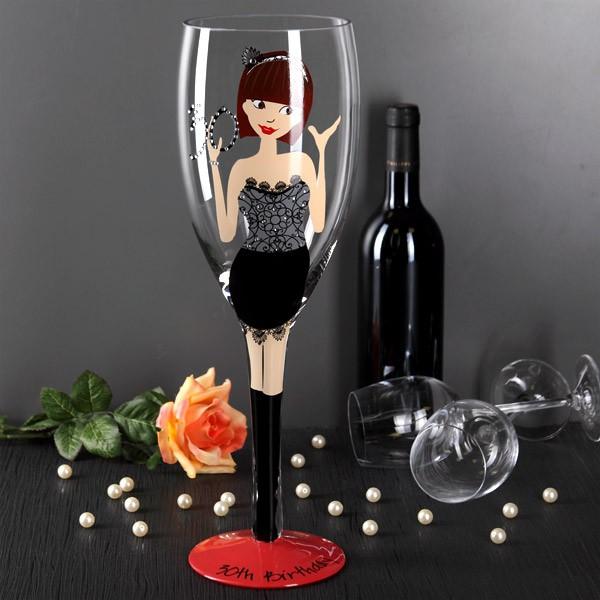 großes Champagner Glas für Frauen