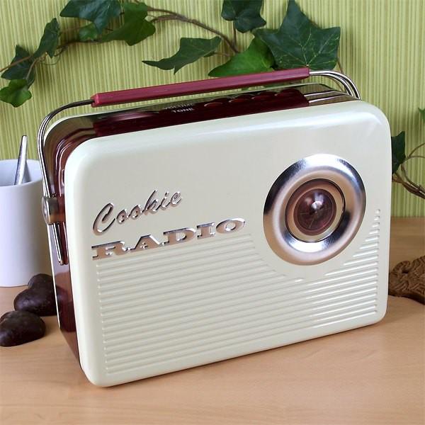 Retro Radio als Keksdose