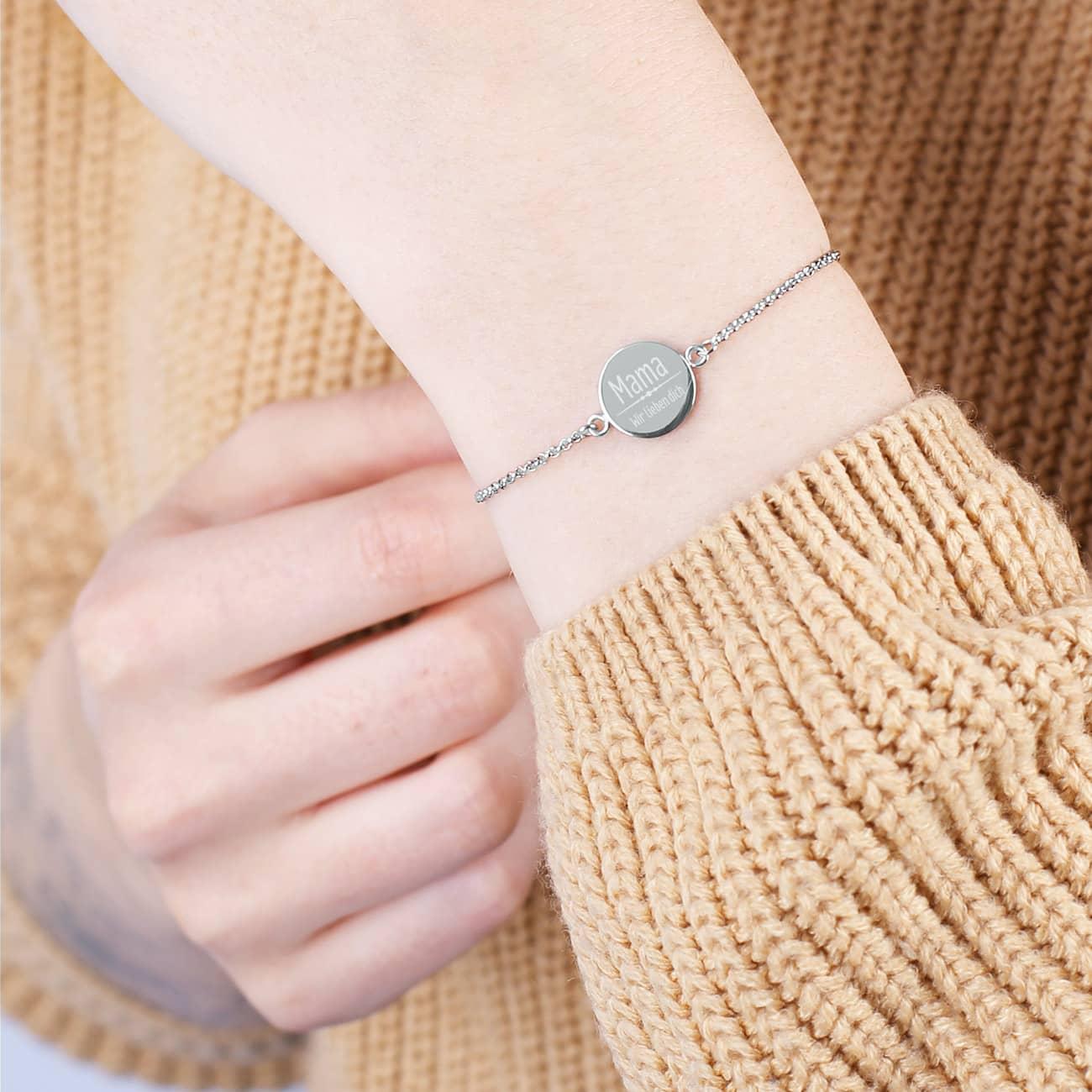 Armband von Leonardo Silber oder Gold | Gravur