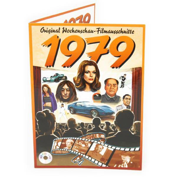 Geburtstagskarte 1979 mit original Wochenschau - Filmausschnitt
