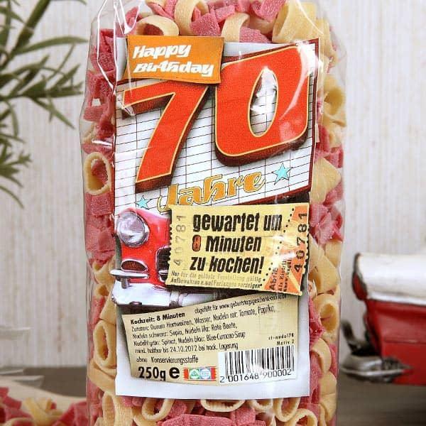 Zahlen Pasta zum 70. Geburtstag