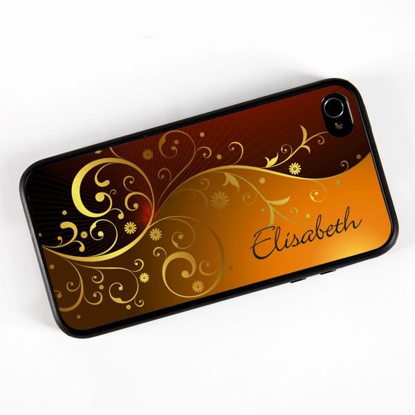 iPhone 4(s) Handyhülle mit goldenen Ornamenten