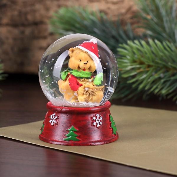 Schneekugel mit Teddy Weihnachten