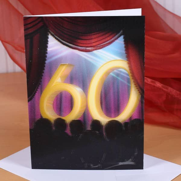 Wackelkarte zum 60. Geburtstag