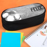 Stiftebox mit Fußball Motiv