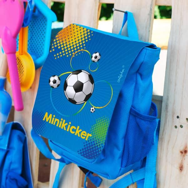 Kinderrucksack mit Name für kleine Fußballer