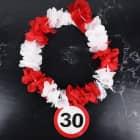 Hawaiikette Verkehrsschild 30