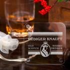 Acryluntersetzer Whisky Drinker mit Name im Set