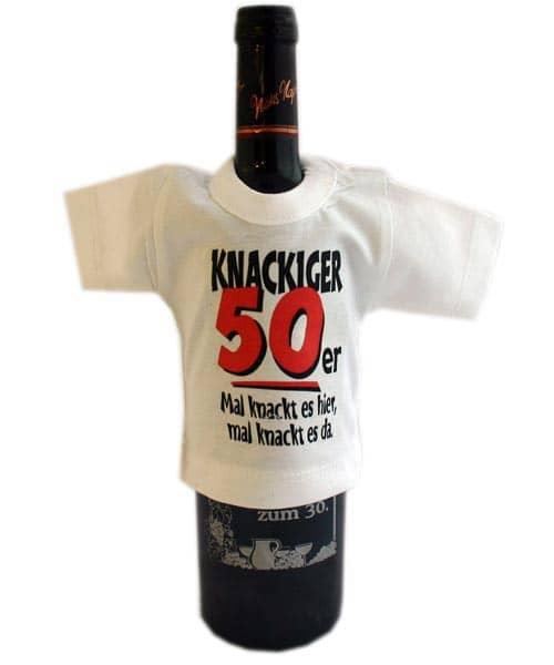 Mini- Shirt für Flaschen *Knackiger 50er*