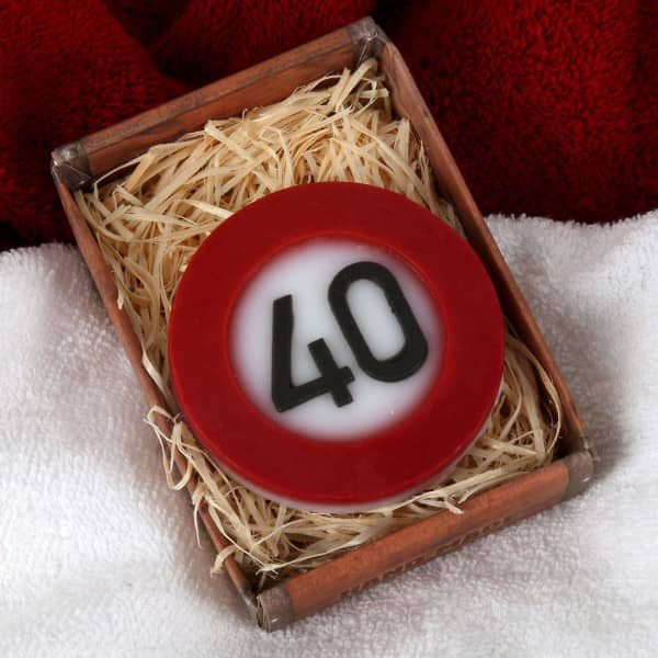 Verkehrszeichen Seife zum 40. Geburtstag