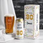 Happy Birthday 30 - Bier Geschenkset in persönlicher Verpackung