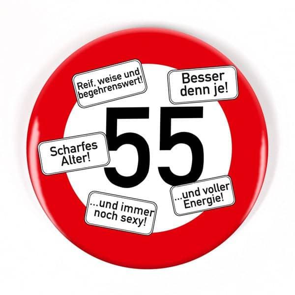 Button zum 55. Geburtstag