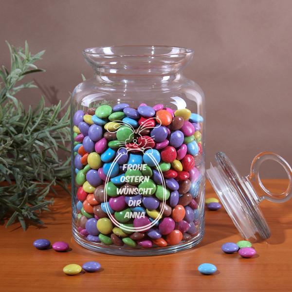 Keksdose mit Gravur Wunschtext und Osterhase zu Ostern