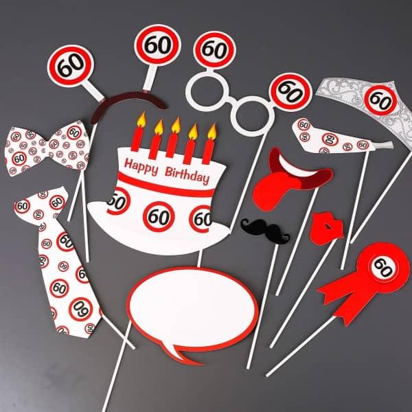 Photo Booth - Set für Partyfotos zum 60. Geburtstag