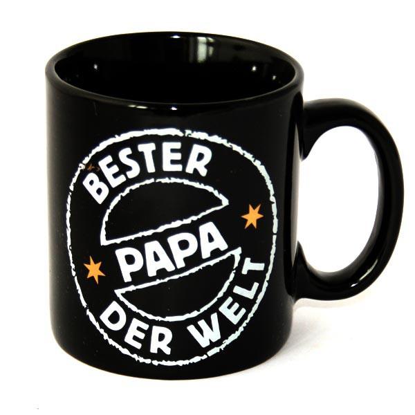 Stilvolle schwarze Tasse - bester Papa der Welt