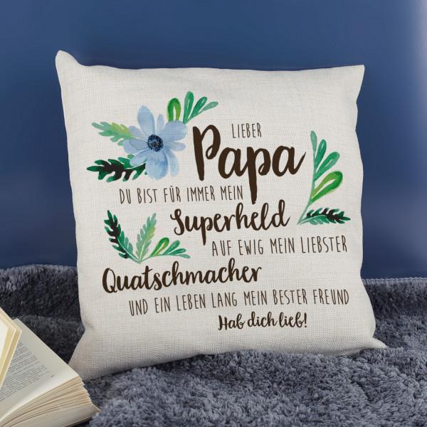 Kissen zum Vatertag mit Wunschtext