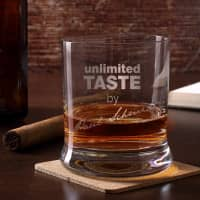 graviertes Whiskyglas Unlimited Taste mit Namen