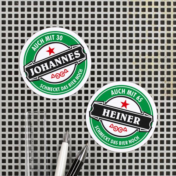 Kühlschrankmagnete mit Name und Alter der Beschenkten